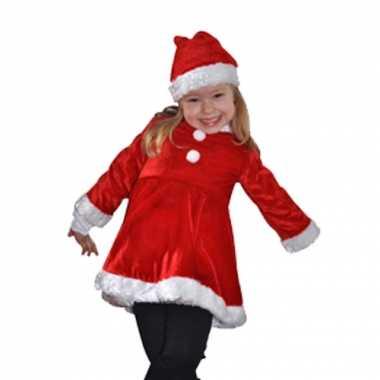 Fluwelen kerstjurk kinderen dames