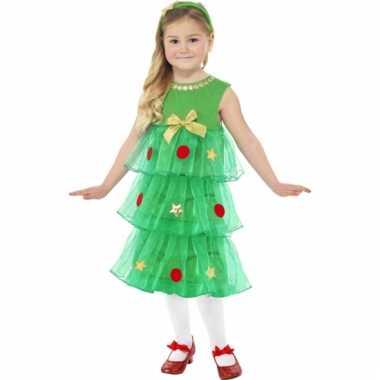 Kerstjurk kerstboom voor kinderen dames