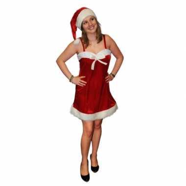 Kerstjurk met kerstmuts dames