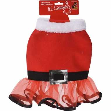 Kerstjurk voor de hond 30 cm dames