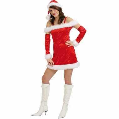 Rood fluwelen kerstjurk voor vrouwen dames